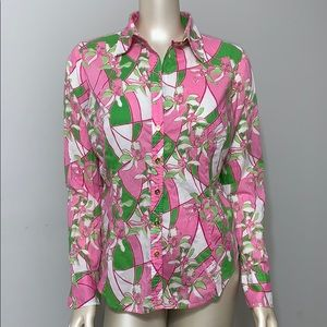 Lilly Pulitzer floral button down shirt